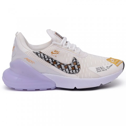 NIKE JUST AIR MAX 270 BRANCO/OURO